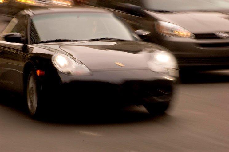 Porsche Preto Carro Rápido