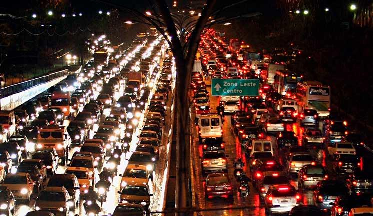 Cidades com pior trânsito: São Paulo
