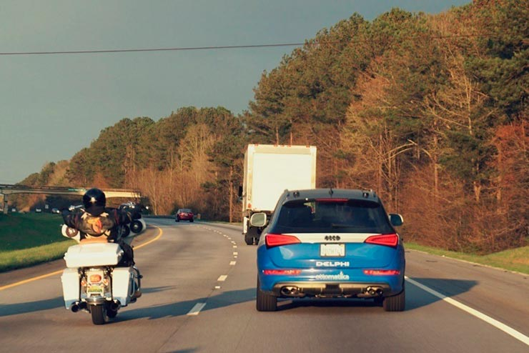 Carro sem motorista: Audi SQ5 modificado pela Delphi, que cruzou os EUA