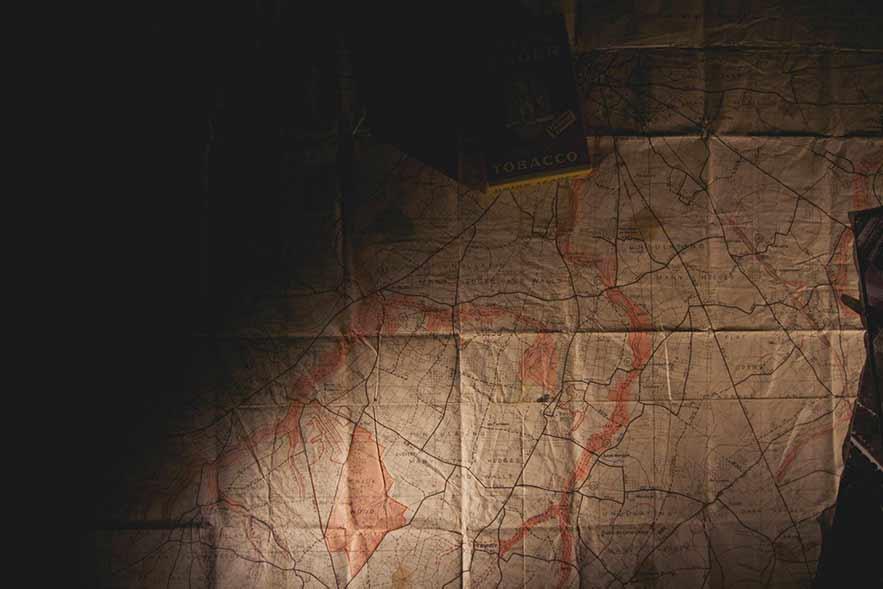Mapa Antigo da volta ao mundo