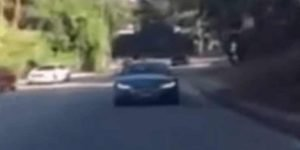 Marcha ré: veja vídeo de maluco dirigindo de marcha ré na Califórnia.