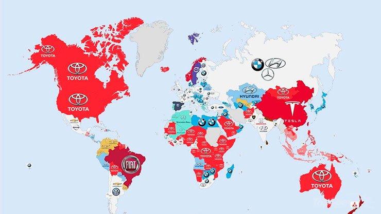 Carros mais pesquisados no mundo