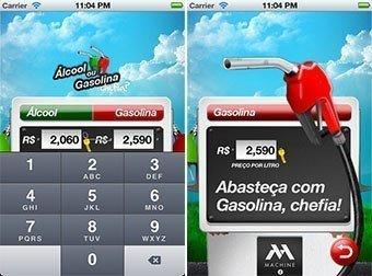 Aplicativos para ajudar a dirigir: Alcool ou gasolina chefia