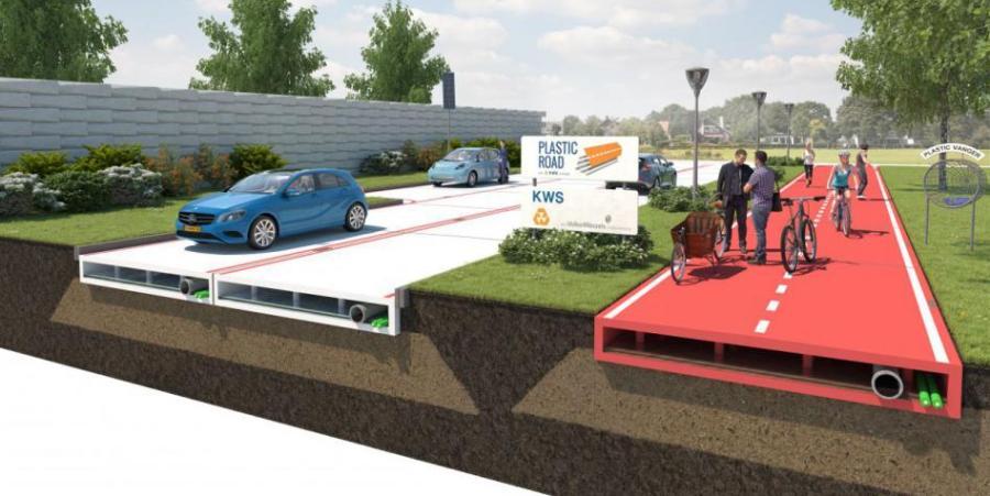 Estradas de plástico futuro