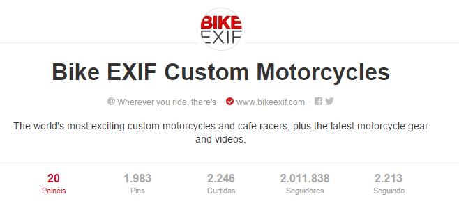 Melhores pinterests para amantes de moto: Bike EXIF Custom Motorcycles