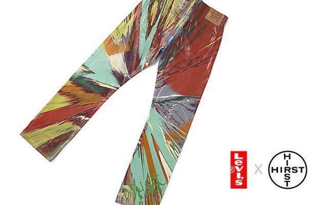 Jeans Levi's criado pelo artista britânico Damien Hirst