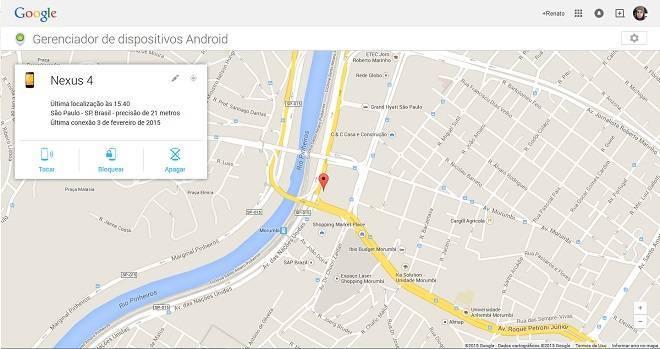 Encontre seu Android pela internet