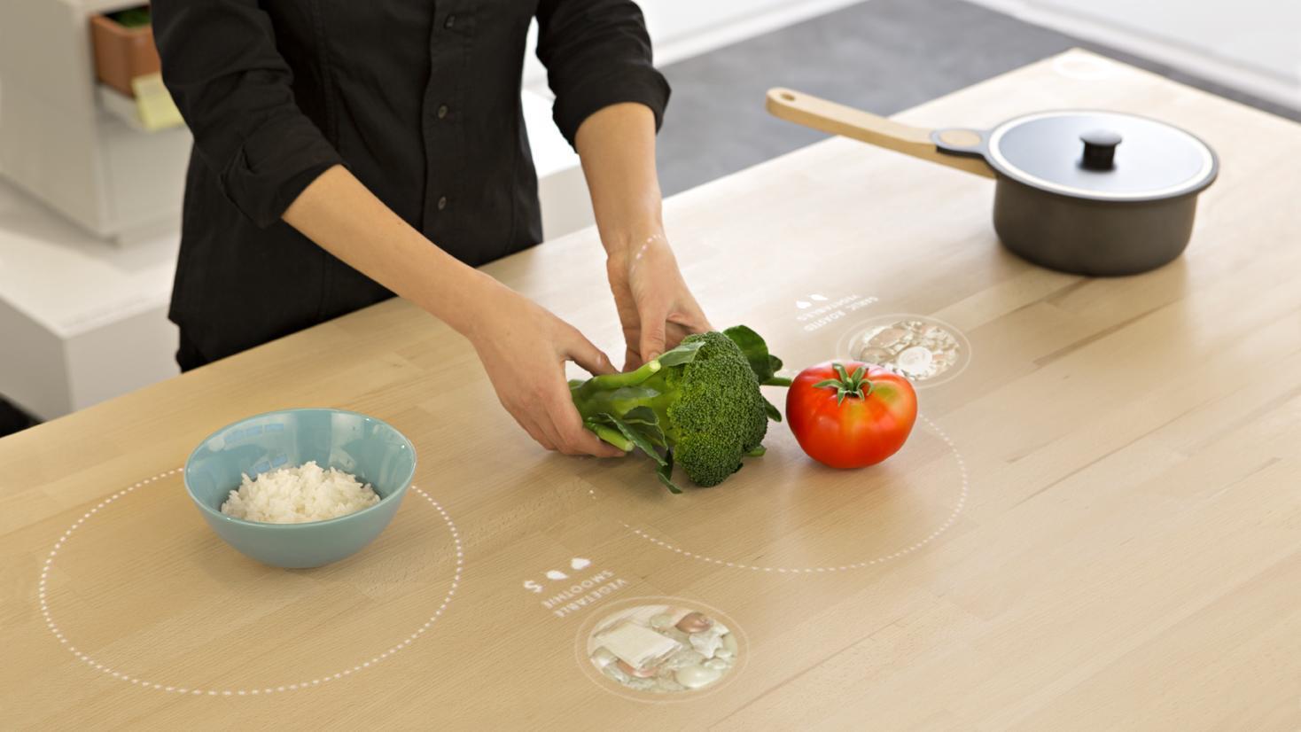 Cozinha do futuro: mesa interativa será uma das novidades.