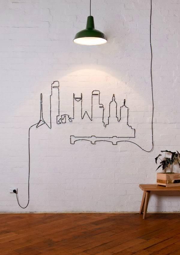 Faça você mesmo: Essa ideia fantástica para fios elétricos e decoração é do site Design & DIY Magazine (clique na imagem para acessar)
