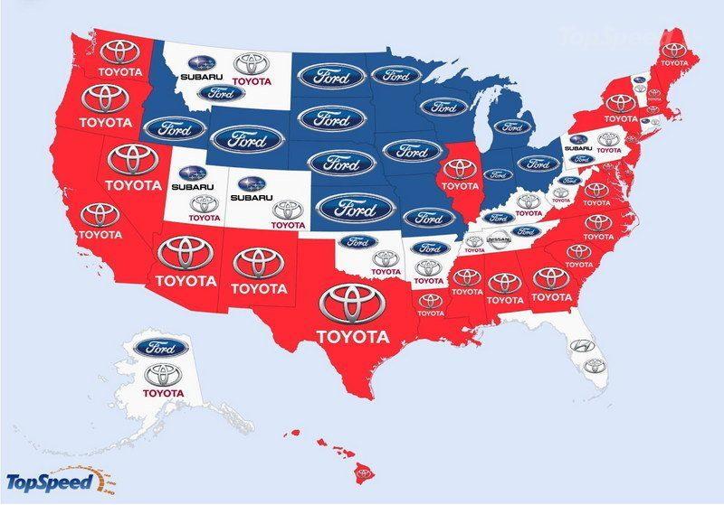Carros mais pesquisados nos EUA