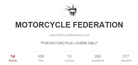 Melhores pinterests para amantes de moto: Motorcycle Federation