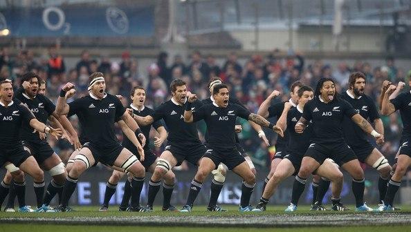 Seleção Neozelandesa de Rugby, os All Blacks, são patrocinados pela AIG Seguros