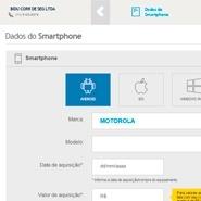 Passo 1 da cotação de seguro celular