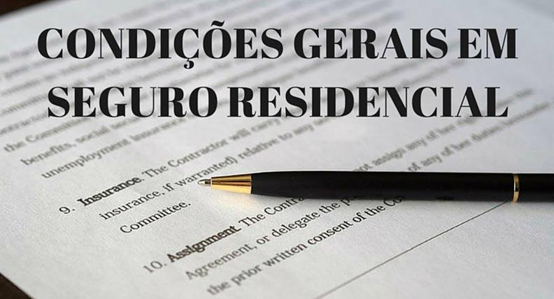 Condições Gerais em Seguro Residencial