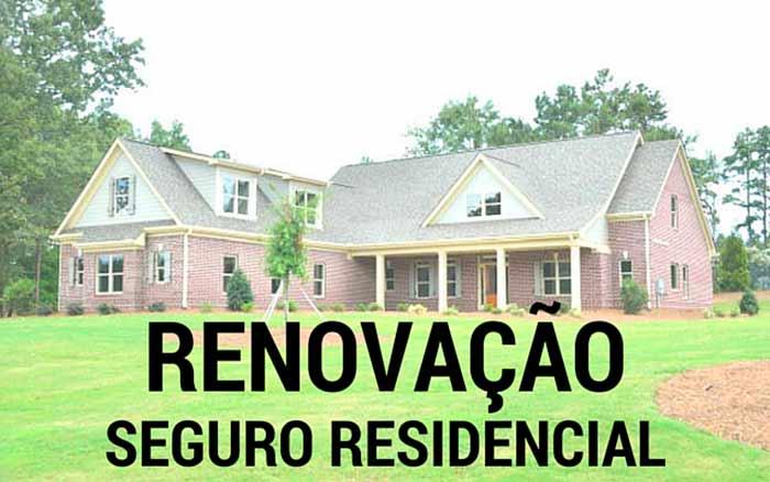 renovação do seguro residencial