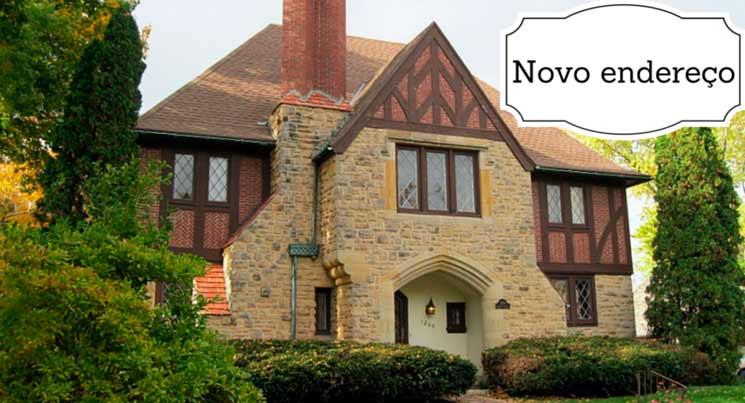 """Imagem de casa com a descrição """"Novo endereço"""""""