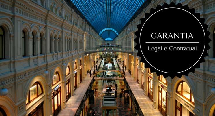"""Imagem de shopping com a descrição """"Garantia legal e contratual"""""""