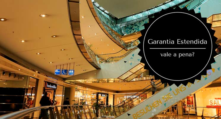 """Imagem de escadas do shopping com a descrição """"Garantia estendida vale a pena"""""""