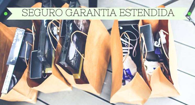 """Imagens de sacolas de compras com a descrição """"Seguro Garantia Estendida"""""""