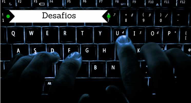 Imagem de dedos digitando em um teclado