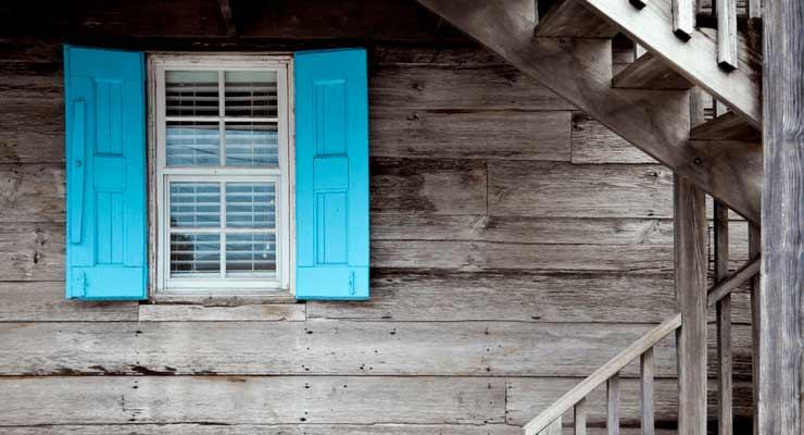 Imagem de janela azul
