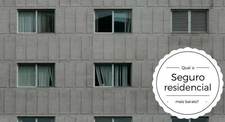 """Imagem de janelas de um prédio com a descrição """"Qual o seguro residencial mais barato"""""""