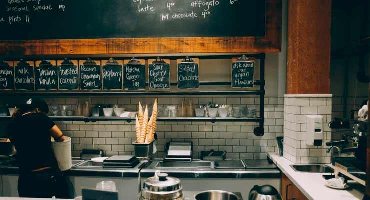 Imagem de uma cafeteria