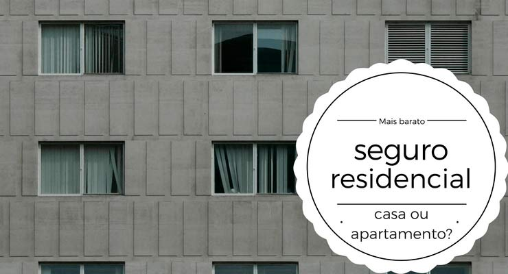 """Imagem de janelas de um prédio com a descrição """"Mais barato seguro residencial casa ou apartamento"""""""