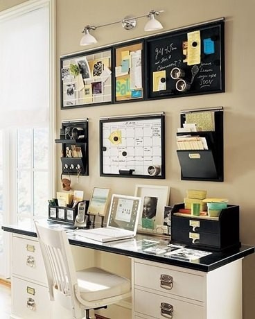 imagem de quadros decorando o escritório