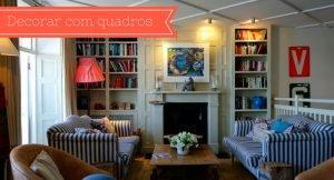 imagem de uma sala com quadro, para ilustrar como escolher quadro para cada comodo