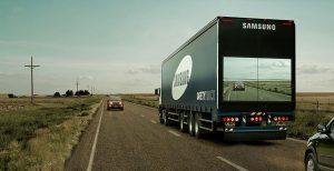 Safety Truck utilizando sistema desenvolvido pela Samsung para ultrapassagem com mais segurança