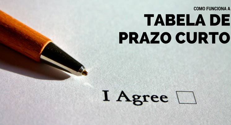 """Imagem de uma caneta em cima de um papel escrito """"eu aceito"""" em inglês. A legenda fiz """"como funciona a tabela de curto prazo"""""""