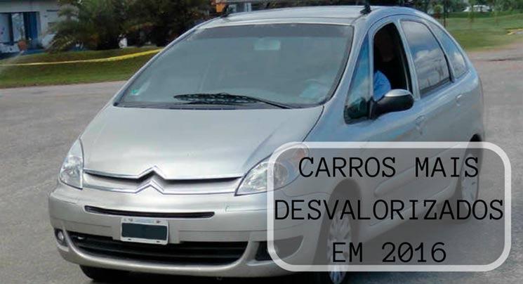 Carros desvalorizados 2016