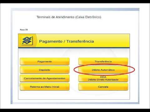 liberação de debito automatico banco do brasil caixa eletronico