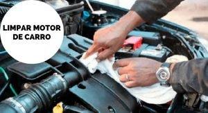 Limpar motor de carro