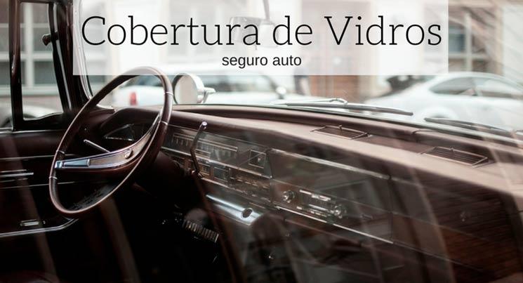 imagem do painel de um carro antigo com a descrição: cobertura de vidros seguro auto