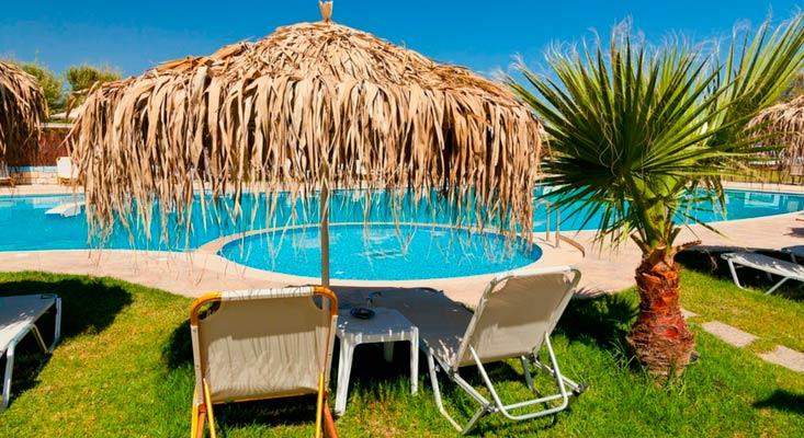 imagem de um resort