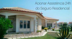 imagem de uma casa com a descrição: acionar assistência 24 horas do seguro residencial