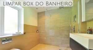 imagem de um banheiro de luxo com a descrição: limpar box do banheiro