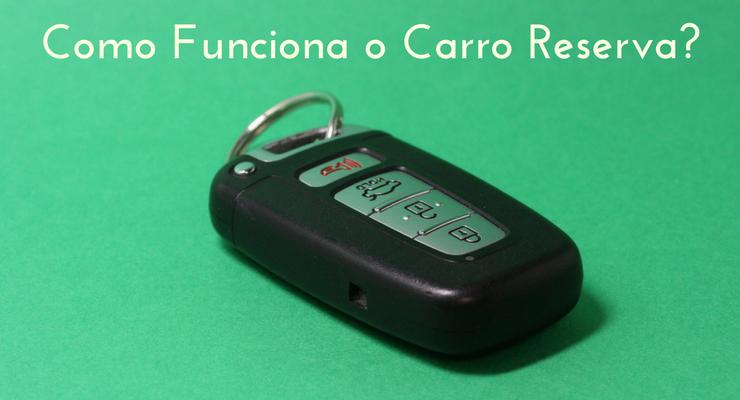 imagem de uma chave de carro com descrição: como funciona o carro reserva
