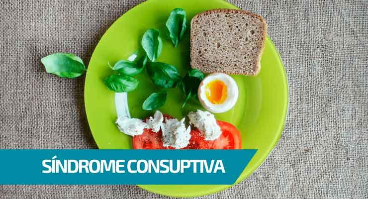 Imagem de um prato com a legenda: síndrome consuptiva