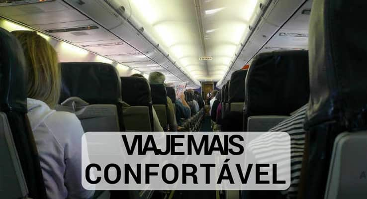 Como viajar de avião confortável?