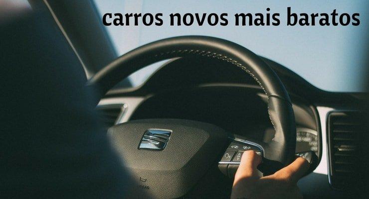 carros novos mais baratos com imagem do interior do carro