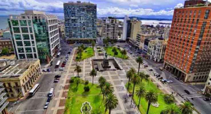 Plaza Independencia, em Montevideo
