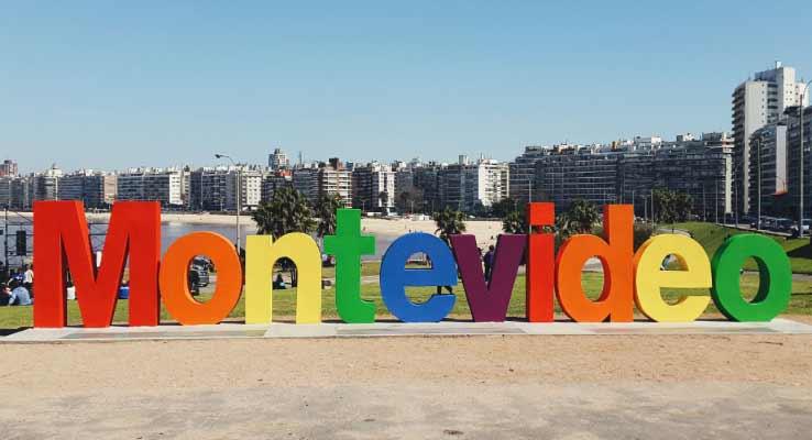 O famoso letreiro de Montevidéu