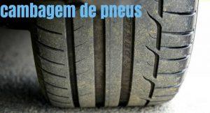 imagem de um pneu com a legenda: cambagem de pneus