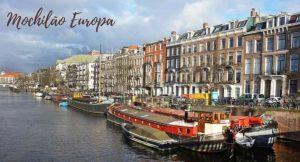 Imagem da cidade de Amsterdam com a descrição mochilão europa