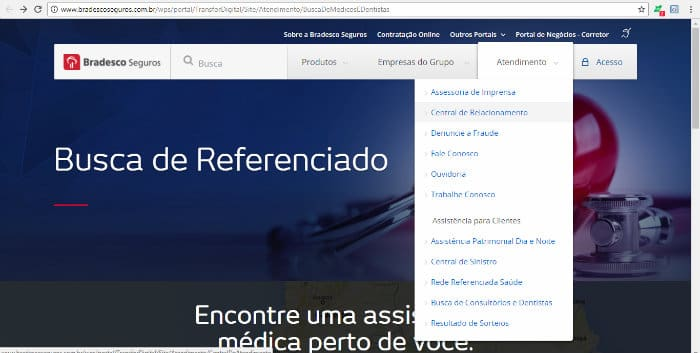 rede referenciada bradesco saúde