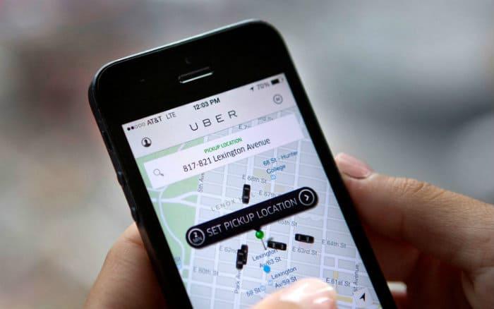 imagem da tela do aplicativo uber para ilustrar post sobre motorista de aplicativo