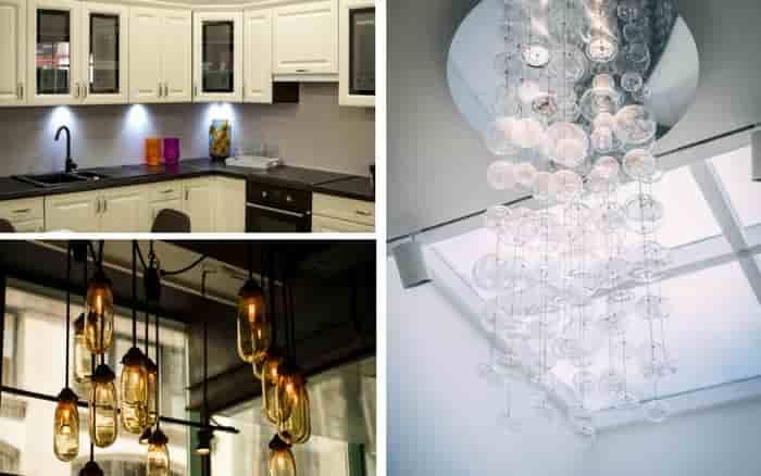 Imagens com dicas de decoração com luz
